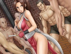 Free Hentai Game CG Set Gallery: [Crimson Comics] Fighting of Ecstasy (DoA, KoF)