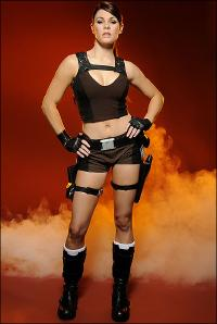 Lara Croft Cosplay by official model Alison Carroll (set: THE SUN)