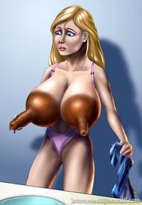 huge tits futanari