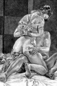 Sexy bondage drawings of women