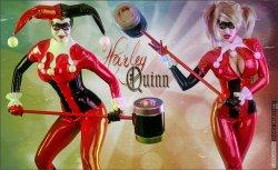Free Hentai Cosplay Gallery: Latex Harley Quinn by Bianca Beauchamp!