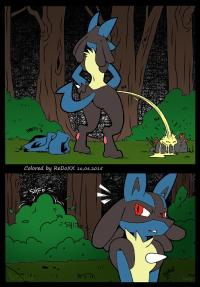 [Nastacula] A Wild Lucario Appears (Pokemon) [Colorized]
