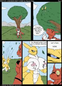 [Victoria Viper] [Mykiio] Pent Up A Digimon Smut Comic [Colorized] by ReDoXX]