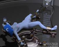 [Delion Kiaw] Bluebell ans the saw-tentacle (3D gore, rape with a chainsaw, ongoing)