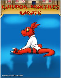 guilmon practices karate