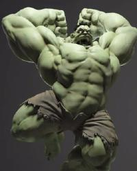 [Hong] Hulk best body 3D - Giants green (0o_o0)