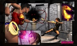 Free Hentai Misc Gallery: [Mongo Bongo] Lara Croft and Wonder Woman (Tomb Raider, Wonder Woman)