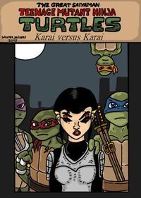 Teenage mutant Ninja Turtles: Karai versus Karai.