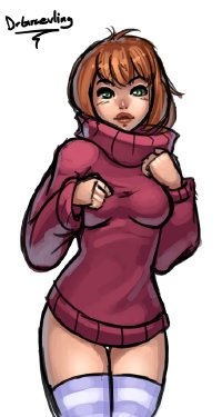 Free Hentai Image Set Gallery: Sweater Girl Gallery