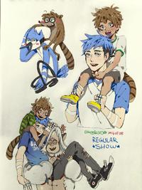 [GogglesYO] Mordecai and Rigby!