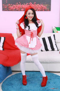Holly Hendrix is Little Red Riding Hood