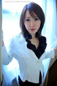 [TOKYO HOT] Newscaster Cosplay Fuck - Maoko Ootani (Uncensored)