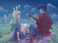 (CWT40) [Artistic Time (FangCat)] Spend the Night with Me (Adventure Time) [Chinese] [Sample]