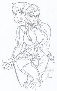 Shiraki Meiko & Titus - (DeeannaDeeann) _ My miny Sketches work