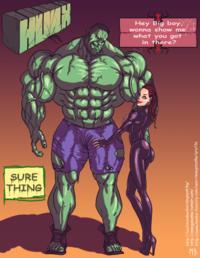 Free Hentai Western Gallery [Mnogobatko] Hulk vs Black Widow